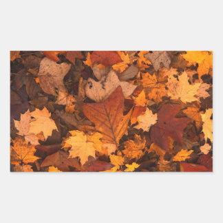 Autum Leaves Rectangular Sticker