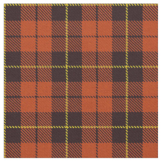 Autum Orange plaid yellow & black stripe Fabric