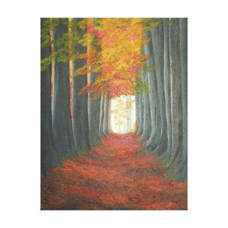 Autum Path Canvas Print