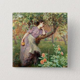 Autumn, 1865 15 cm square badge