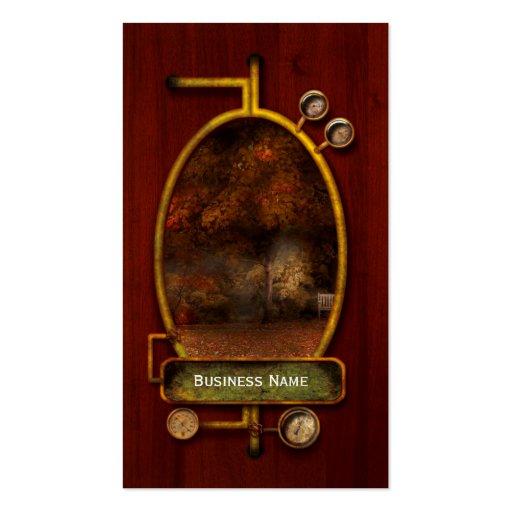 Autumn - A park bench Business Card Template