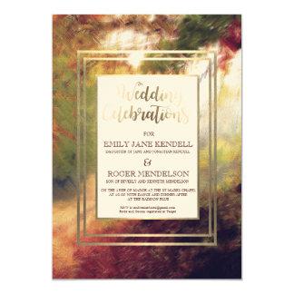 Autumn Abstract Landscape Wedding Invitation