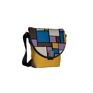 Autumn Abstract Messenger Bag