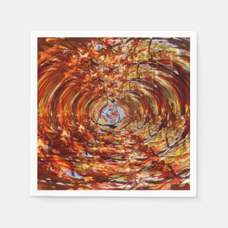 Autumn Abstract Paper Napkins