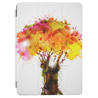 Autumn Abstract Tree Forming By Blots iPad Air Cover