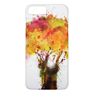 Autumn Abstract Tree Forming By Blots iPhone 7 Plus Case