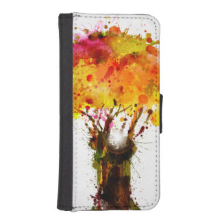 Autumn Abstract Tree Forming By Blots iPhone SE/5/5s Wallet Case
