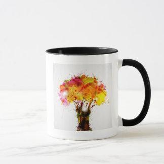 Autumn Abstract Tree Forming By Blots Mug