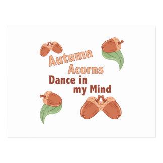 Autumn Acorns Postcard