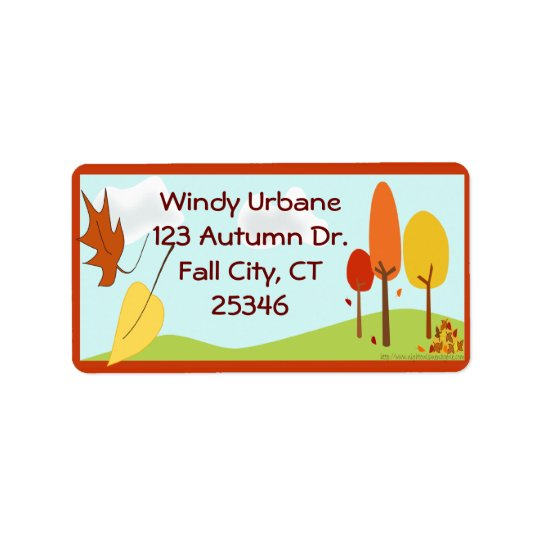 Autumn Address Label