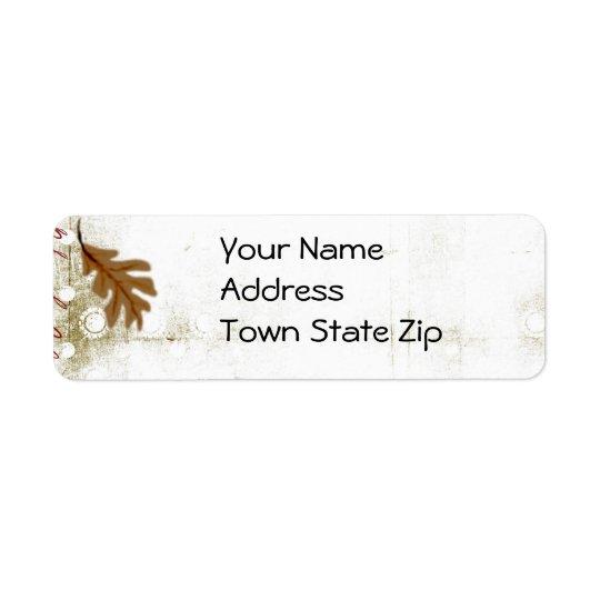 Autumn address labels