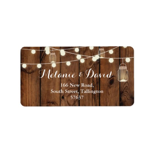 Autumn Address Labels Wood Festive Xmas Rustic