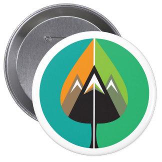autumn adventures 10 cm round badge