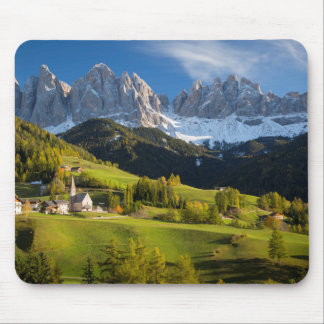 Autumn afternoon over Val di Funes Mouse Pad