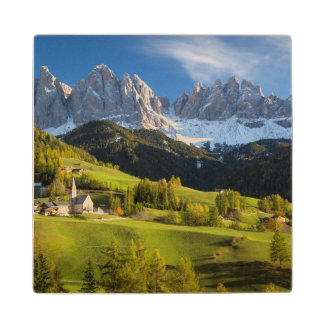 Autumn afternoon over Val di Funes Wood Coaster