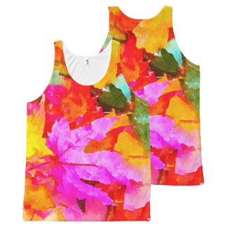 Autumn All-Over Print Tank Top