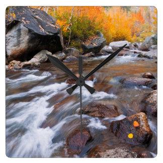 Autumn along Bishop Creek, CA Wallclock