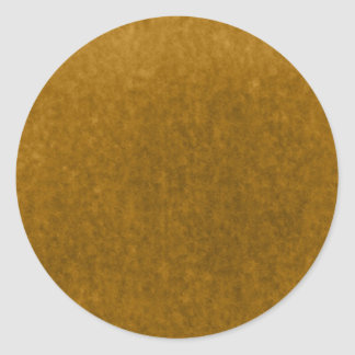 Autumn Amber Harvest Gold Watercolor Template Classic Round Sticker