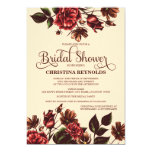 Autumn and Fall Floral Bridal Shower Personalised Invitations