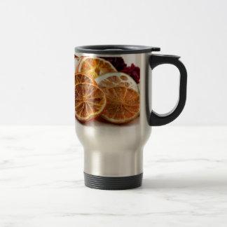 Autumn and orange stainless steel travel mug