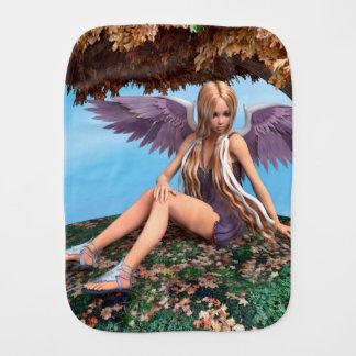 Autumn Angel Baby Burp Cloths