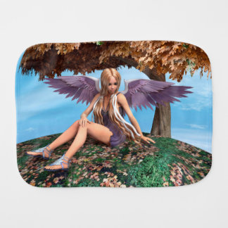 Autumn Angel Burp Cloths
