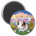 Autumn Angel - Guinea Pig 1 6 Cm Round Magnet