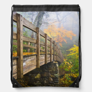 Autumn Appalachian Hiking Trail Drawstring Backpacks