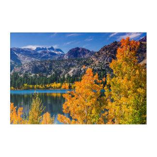 Autumn around June Lake, California Acrylic Wall Art