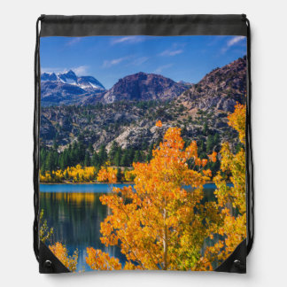 Autumn around June Lake, California Drawstring Bag
