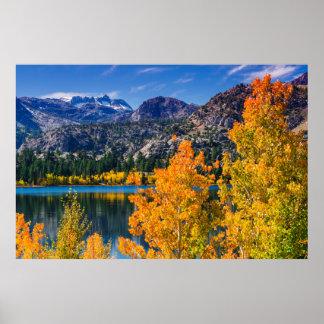 Autumn around June Lake, California Poster