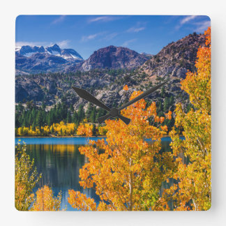 Autumn around June Lake, California Square Wall Clock