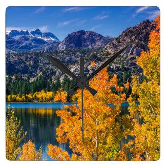 Autumn around June Lake, California Wall Clocks