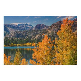 Autumn around June Lake, California Wood Canvas