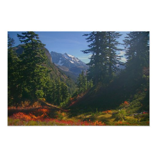 Autumn at Mount Shuksan print