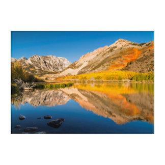 Autumn at North lake, California Acrylic Wall Art