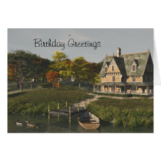 Autumn at the Lake Birthday Card