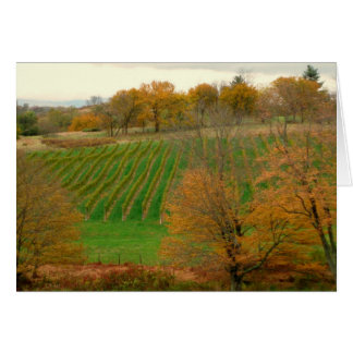 Autumn at the Winery blank card