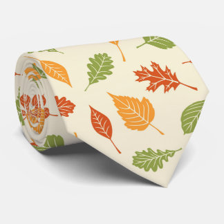 Autumn atmosphere with fall leaves tie