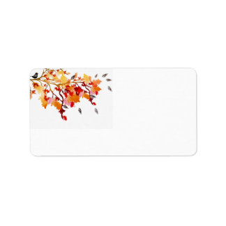 Autumn Avery Label Address Label