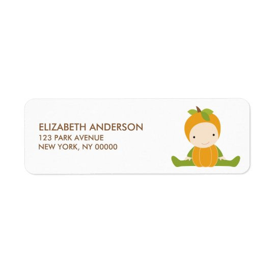 Autumn Baby Shower Address Labels