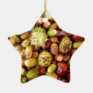 Autumn background ceramic star decoration