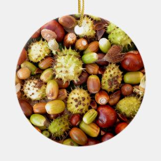 Autumn background round ceramic decoration