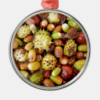 Autumn background Silver-Colored round decoration