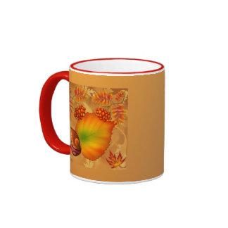 Autumn Berries Ringer Mug