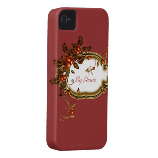 Autumn Berry Framed Case-Mate iPhone 4 Case