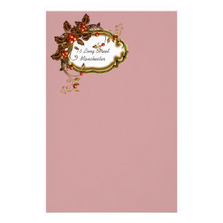 Autumn Berry Framed Customized Stationery