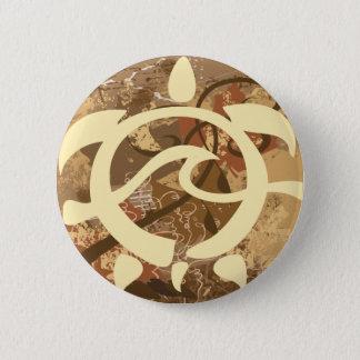 Autumn-BG-Turtle 6 Cm Round Badge
