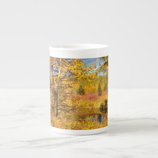 Autumn Birch Tree Tea Cup