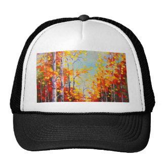 Autumn birches cap